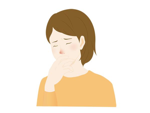 イラスト:花粉症の女性